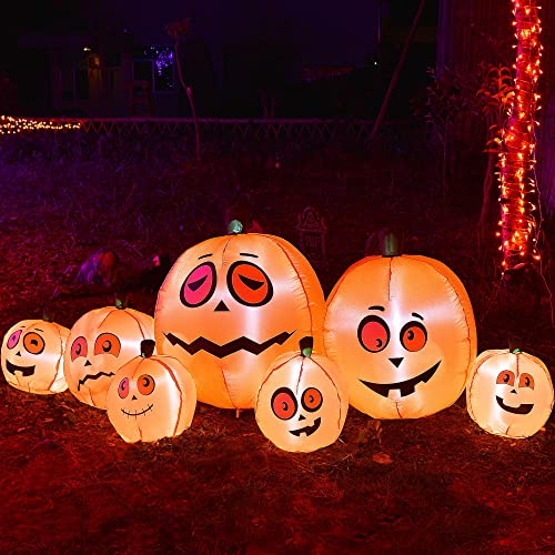 new arrival Twinkle lowest Star 8Ft Long Halloween Inflatable Pumpkins Decorations Outdoor outlet sale Indoor Holiday Blow Up Lighted Pumpkin Halloween Decor, Animated Halloween Yard Prop, Giant Lawn Decorations with LED Lights online sale