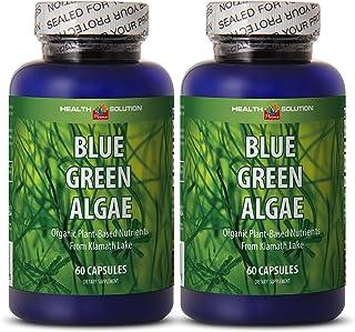 Chlorella spirulina Extract - Blue Green Algae - Brain Supporting Supplement (2 Bottles)
