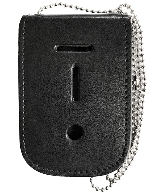 Neck Chain Badge and ID Holder with Extra Hidden Inside ID Card Storage