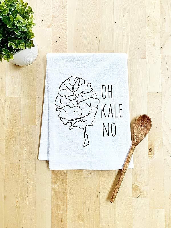 Funny Dishcloth Tea Towel Oh Kale No Vegetable Pun Kitchen Cloth