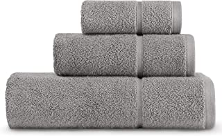 Vera Wang Modern Lux Towel Set, 30x56, Grey