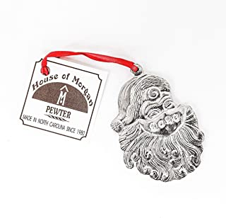 Handmade Face Mask Wearing Santa Claus 2020 Christmas Ornament Pewter