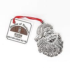 874 Santa Sickle Keepsake Holiday Christmas Ornament Pewter