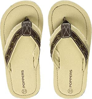 Poppers by Pantaloons Boy's Beige Slippers-1.5 Kids UK (34 EU) (880000992)