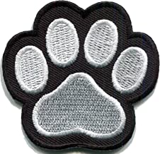 """Paw Print Heart Patch Heat Transfer Iron On Graphic Applique 10.24 X 9.06/"""" WHITE"""