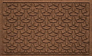 Bungalow Flooring Waterhog Indoor/Outdoor Doormat, 2' x 3', Made in USA, Skid Resistant, Easy to Clean, Catches Water and Debris, Ellipse Collection, Dark Brown