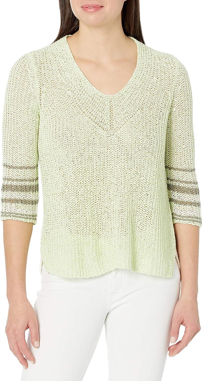 NIC+ZOE Women's Magnolia Stripe Sweater
