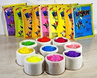 StonKraft Tota 100% Natural Rangoli Holi Color Powder Gulal Gulaal - Herbal, Skin-Safe & Non-Toxic (Pack Of 9 Assorted Col...