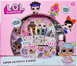 L.O.L. Surprise! Super Activity Set Studio by Horizon Group USA, Sketch & Create with Stickers & Gemstones, Multicolor (Renewed)