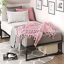 إطار سرير معدني من Zinus Lorelei مقاس 30.48 سم، إطار سرير منصع، مزدوج