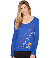 Champion College Kansas Jayhawks Long Sleeve V-Neck Tee