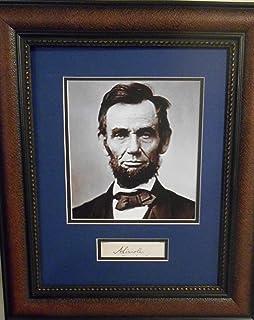 President Abraham Lincoln autograph