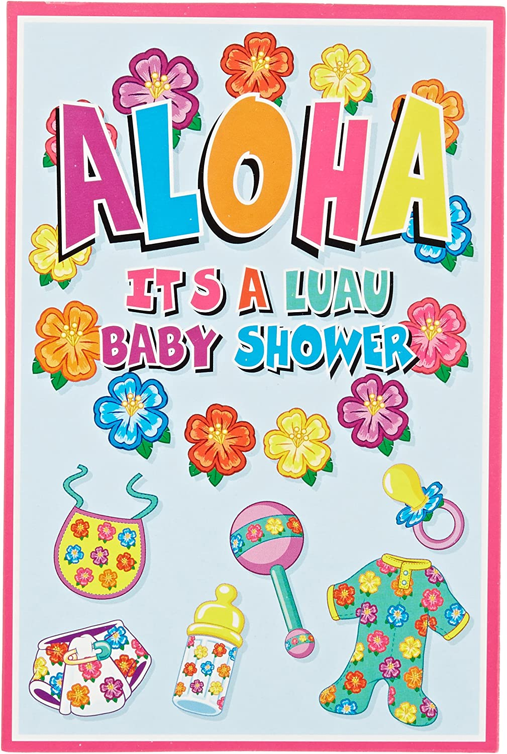 Hula Baby Invitations (envelopes included) (8/Pkg)