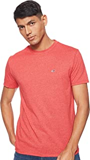 Tommy Jeans Men's TJM Blended T-Shirt, Red (Flame Scarlet 667), X-Small
