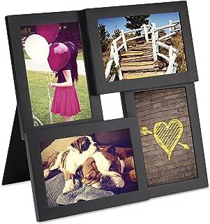 Umbra Pane, Multi 4x6 Picture Frame Collage for Desktop, Black