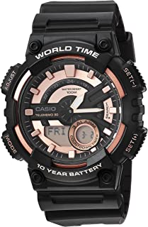 Casio Men's Telememo Quartz Watch with Resin Strap,...