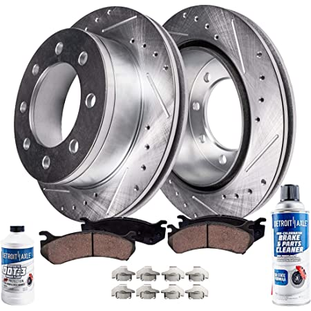 2016 For Ford F-250 Super Duty Rear Disc Brake Rotors and Ceramic Brake Pads Note: w//Single Rear Wheels