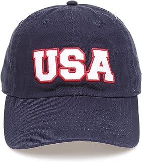 USA American Flag Embroidered 100% Cotton Adjustable Strap Baseball Cap Hat