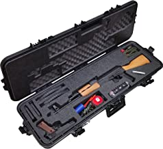 Case Club Pre-Made AK-47 Waterproof Rifle Case with Accessory Box and Silica Gel to Help Prevent Gun Rust