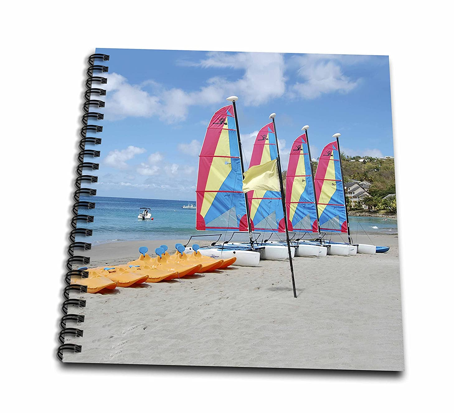 3dRose St Lucia-Memory Book, 12 by 12