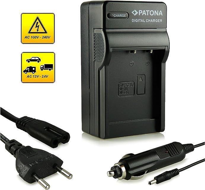 Patona - Cargador tipo NP-130 para cámara de fotos digital Casio Exilim EX-FC300S/EX-H30/EX-H35/EX-ZR100 etc.