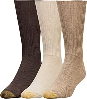 Gold Toe Men's Fluffies Crew Socks, Multipairs Fluffies Crew Socks, Multipairs (pack of 3)