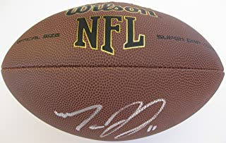 Marvin Jones, Detroit Lions, Bengals, Cal Bears, Signed, Autographed, NFL Football, a COA with the Proof Photo of Marvin Signing the Football Will Be Included