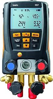 "Testo 0563 1557 557 4 Way Valve Digital Manifold Meter Kit with Built in Bluetooth, 3"" Height, 5"" Width, 9"" Length"