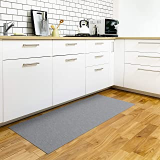 Nico (ニコ) ズレないキッチンマット 洗える はっ水 滑り止め おくだけ吸着 グレー 60×150cm KR-53【amazon限定ブランド】
