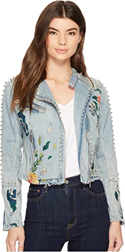 Blank NYC - Studded Floral Moto Jacket in Sea of Flowers