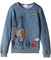 Little Marc Jacobs - MTV Style Badges Long Sleeve Sweatshirt (Little Kids/Big Kids)