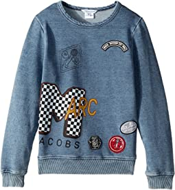 Little Marc Jacobs - MTV Style Badges Long Sleeve Sweatshirt (Little Kids/Big Kids)