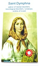 relic card 3rd Class St Dymphna Patron of Mental & neurological Disorders Runaways Victims of Incest Depression Anxiety Stress Health Nervous Breakdown trastorno depresión ataque de nervios