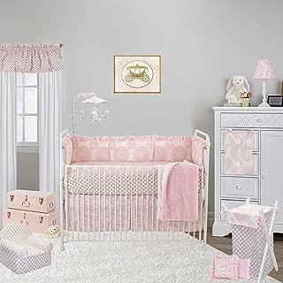 Cotton Tale Designs 100% Cotton Soft Floral Garden Lattice Daisy Flower, Paisley, Chevron, Minky Sweet & Simple Pink 4 Piece Nursery Crib Bedding Set - Baby Shower Gift Girl