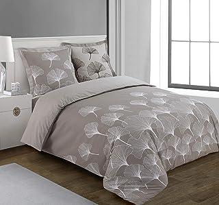 Vision Housse de Couette Ginko - 240x220cm avec 2 taies d'oreiller - 100% Coton