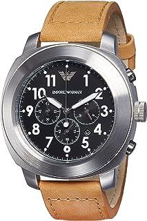 Armani Mens Quartz Watch, Analog Display and Leather Strap AR6060