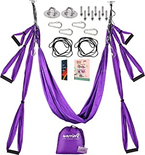 Warrior2 Aerial Yoga Swing Trapeze Hammock With Mounting Kit Hardware, Extension Straps, Manual | Antigravity Flying Yoga ...