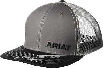 ARIAT Gray Offset Name Mesh Cap