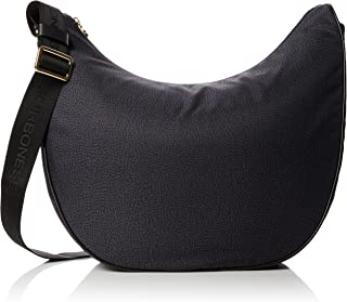 Borbonese Luna Bag, Borsa a Spalla Donna, 35x38x15 cm (W x H x L)