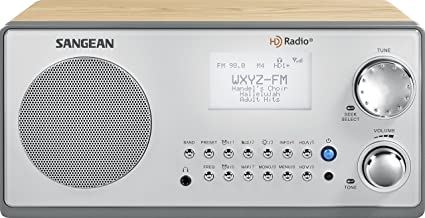 Sangean HDR-18 HD Radio/FM-Stereo/AM Wooden Cabinet Table Top Radio