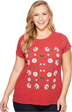 Lucky Brand Plus Size Flower Tee