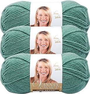 (3 Pack) Lion Brand Yarn 860-177 Vanna's Choice Yarn, Sage