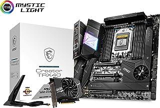 MSI Creator TRX40 - Placa Base (AMD TRX40, 4 x PCI-E 4.0 x 16, 8 DIMMs, DDR4 4666 MHz, 3 x Lighting Gen4 M.2 Slots 64 GB/s, 6 x SATA 6 GB/s, Intel Wi-Fi 6 AX200, Bluetooth 5.0)