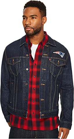 Patriots Sports Denim Trucker