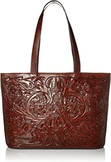 leather shoulder bag leather handbag with flowers Tooled leather purse for women hand painted leather purse carved leather purse