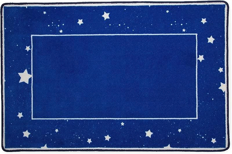 Kids Area Rug Boys Starry Night Children S Room Carpet Delta Children Blue With Stars