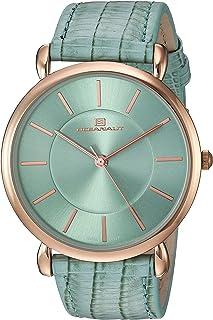 Oceanaut Women's Alma Stainless Steel Quartz Watch with Leather Strap, Green, 19 (Model: OC2214)
