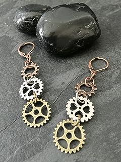 Dangle Earrings Bicycle Chainmaille Earrings Stainless Steel Earrings Bicycle Chain Earrings Chainmail  Earrings Bikers Earrings