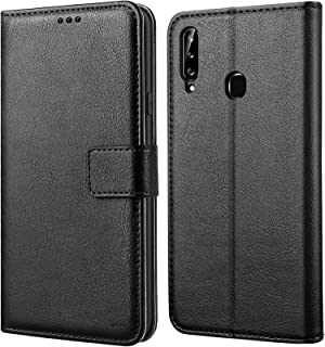 Kompatibel med Samsung Galaxy A20s A207F A207 skärm 6,5 skyddande fodral med stativfunktion, bok, magnet inuti, gel, skydd...