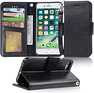 Arae Case for iPhone 7 / iPhone 8, Premium PU Leather Wallet Case with Kickstand and Flip Cover for iPhone 7 (2016) / iPhone 8 (2017) 4.7